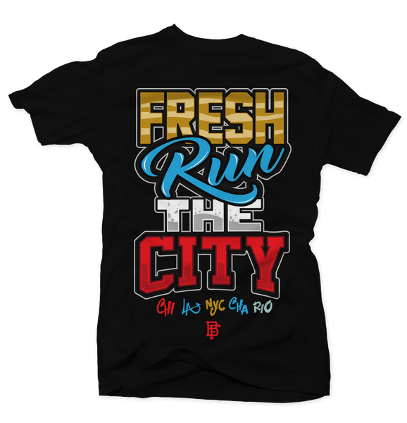 Fresh Run the City Black Tee