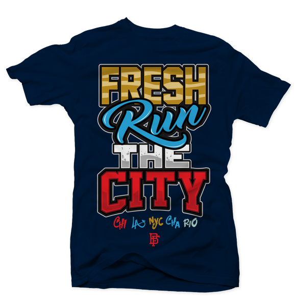 Fresh Run the City Navy Tee