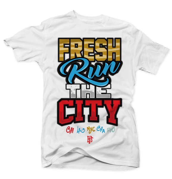 Fresh Run the City White Tee