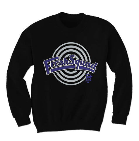 Fresh Squad Space Jam Black Crewneck