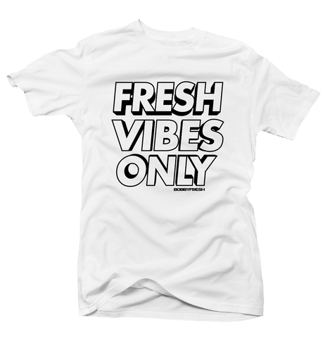 Fresh Vibes White Tee (Reverse He Got Game)
