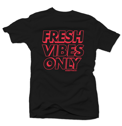 Fresh Vibes Only Black/Infrared Tee