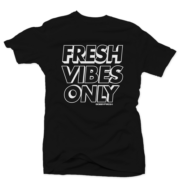 Fresh Vibes Black Tee (Reverse He Got Game)