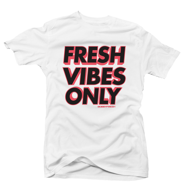 Fresh Vibes Hot Lava White Tee - Bobby Fresh