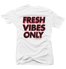 Fresh Vibes Hot Lava White Tee