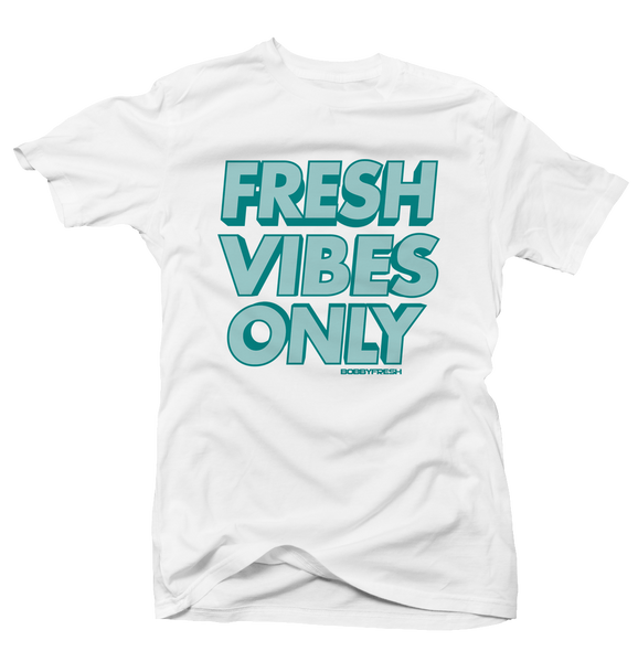 Fresh Vibes Only White Turbo Green 1's Tee