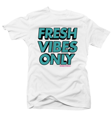 Fresh Vibes Only White Tee
