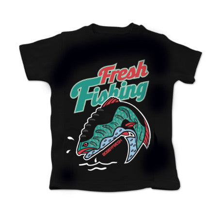 Fresh Fishing BabyFresh Black Tee