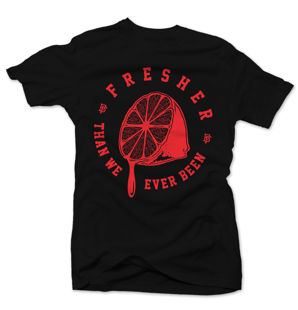 Freshly Squeezed Black/Infrared Tee - Bobby Fresh