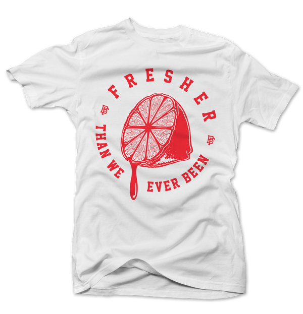 Freshly Squeezed White/Infrared Tee - Bobby Fresh