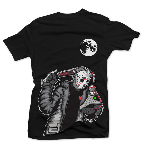 Friday the 13th 3M Infrared Black Tee