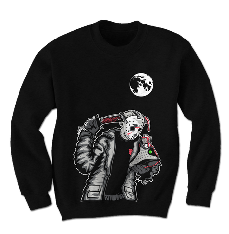 Friday the 13th Infrared Black Crewneck
