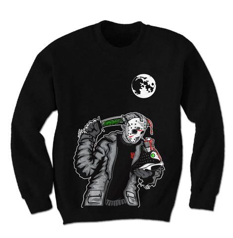 Friday the 13 Black Crewneck Sweater (Reverse He Got Game)
