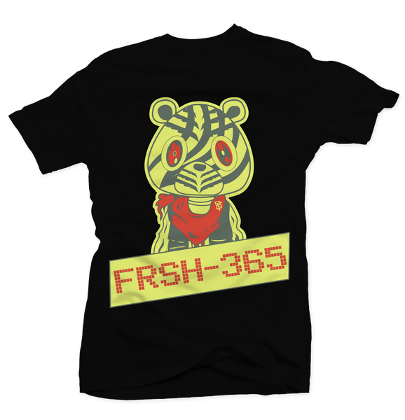 Frsh 365 Frozen Yellow Black Tee