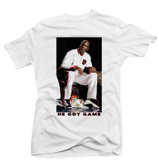 He Got Game White Tee