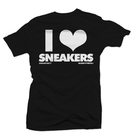 Bobby Fresh x SneakerTube I Love Sneakers Black/Concord Tee