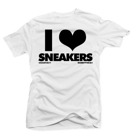 I Love Sneakers White Tee (Reverse He Got Game)