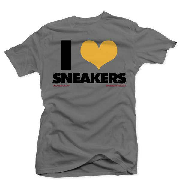 I Love Sneakers Bordeaux Charcoal Tee - Bobby Fresh