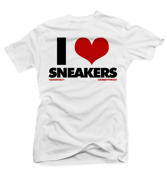 I Love Sneakers White/Carmine