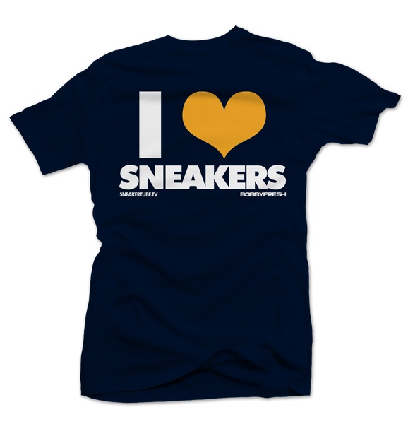 I Love Sneakers Blue/Yellow Tee