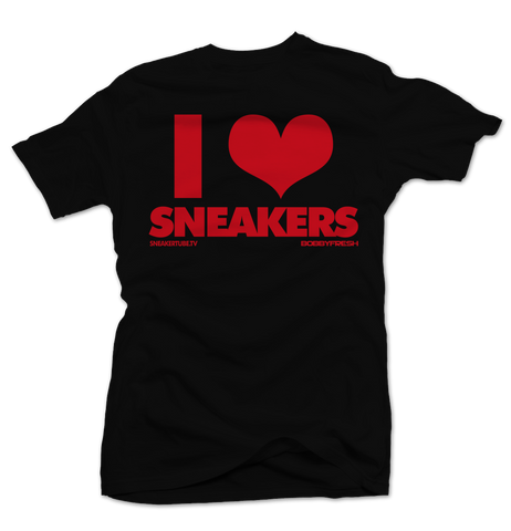 I Love Sneakers Blk/Red Tee