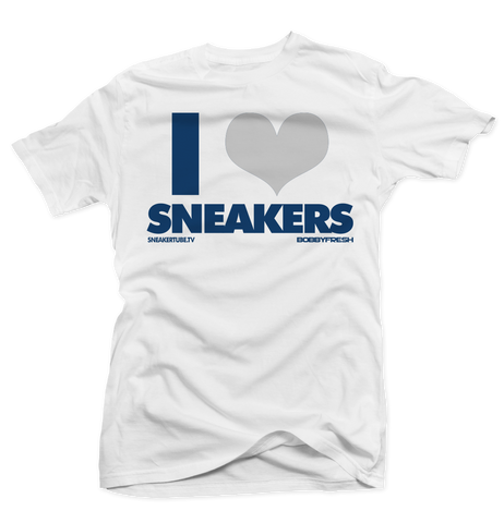 I Love Sneakers French 12 White Tee