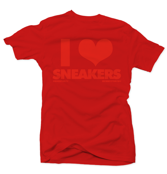 I Love Sneakers Red/Red Tee