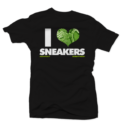 Bobby Fresh x SneakerTube I Love Sneakers Black/Nightshade Tee