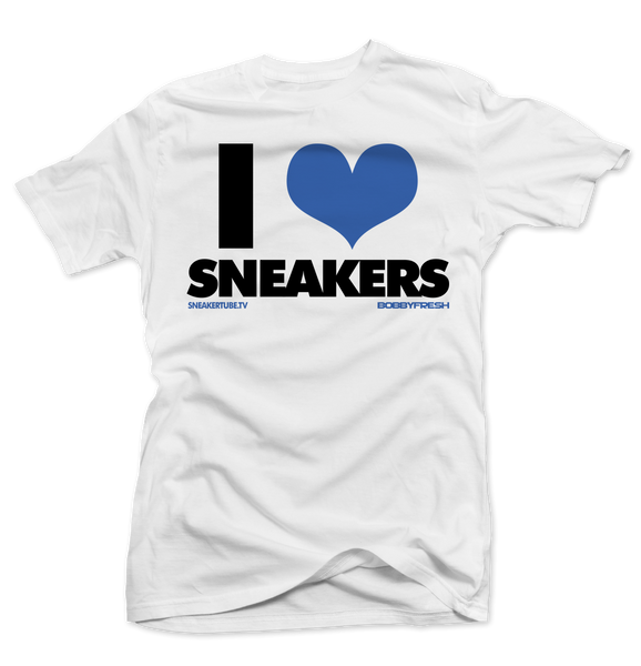 Bobby Fresh x SneakerTube I Love Sneakers White Sport Blue Tee