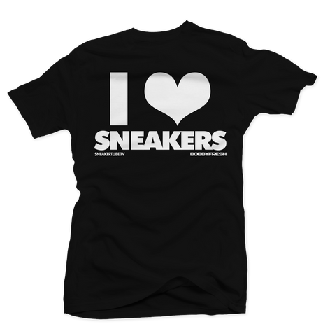 I Love Sneakers Black Tee (Reverse He Got Game)