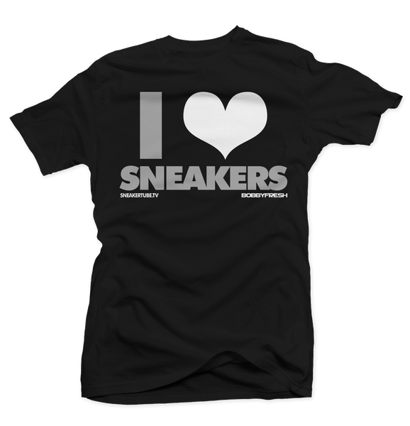 Bobby Fresh x SneakerTube I Love Sneakers Wolf Grey Black Tee