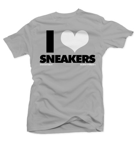 Bobby Fresh x SneakerTube I Love Sneakers Wolf Grey Silver Tee