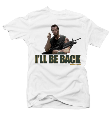 I'll be Back White Tee