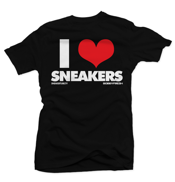 I Love Sneakers Black/Red Tee - Bobby Fresh