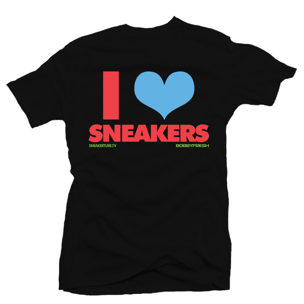I Love Sneakers Martian Black Tee