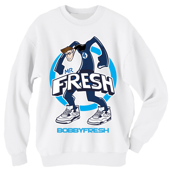 Mr Fresh White Crewneck