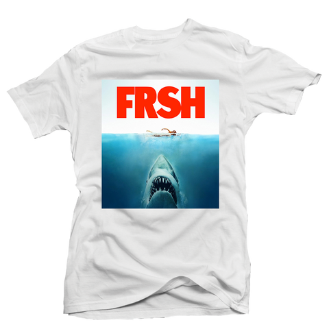 Shark Bite White Tee