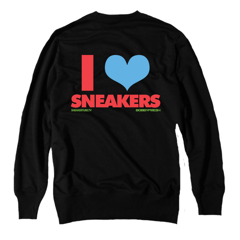 I Love Sneakers Martian Black Crewneck