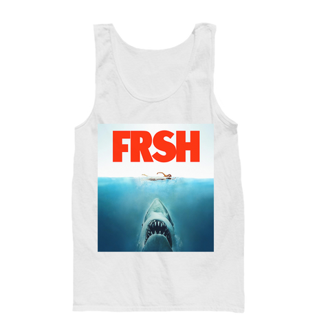 Shark Bite White Tank Top