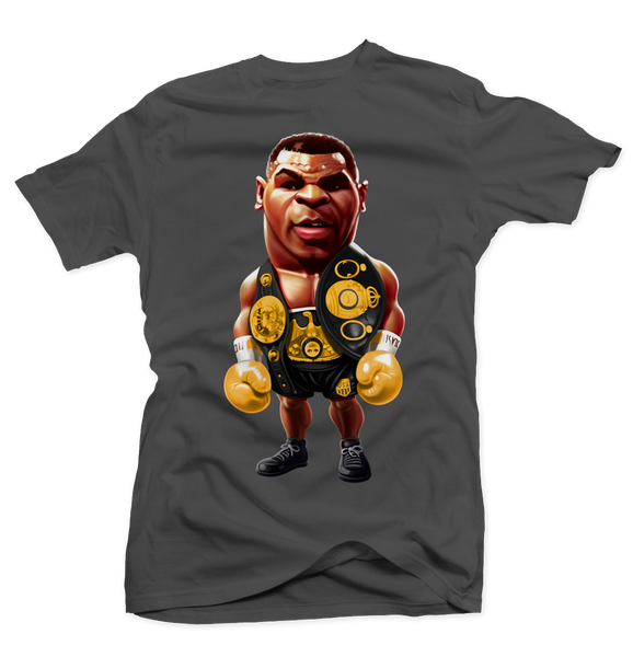Iron Mike Tyson Charcoal Tee (Dark Charcoal) - Bobby Fresh