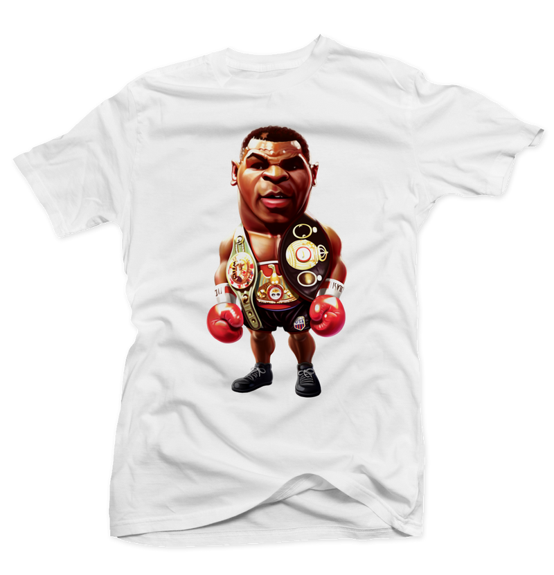 Iron Mike Tyson White Tee - Bobby Fresh