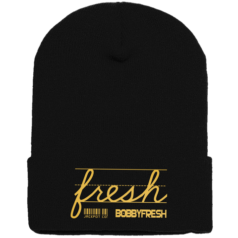 Jackpot Black/Metallic Gold Beanie
