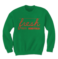 Jackpot Green/Orange Crewneck - Bobby Fresh
