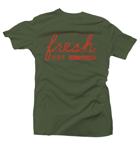 Jackpot Army Green/Orange Tee