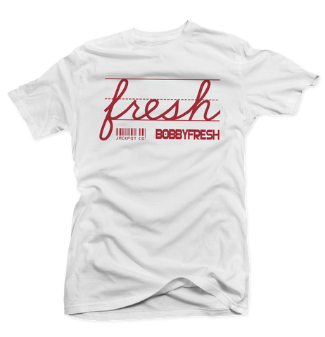 Bobby Fresh x Jackpot Co. Fresh White/Red Tee