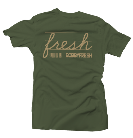 Jackpot Army Green/Tan Tee