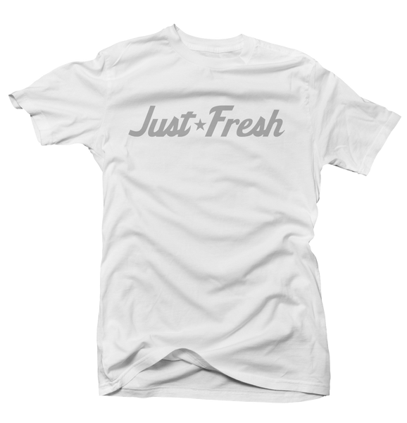 Just Fresh Metallic White Tee