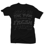 Kick in the Door Black Tee - Bobby Fresh