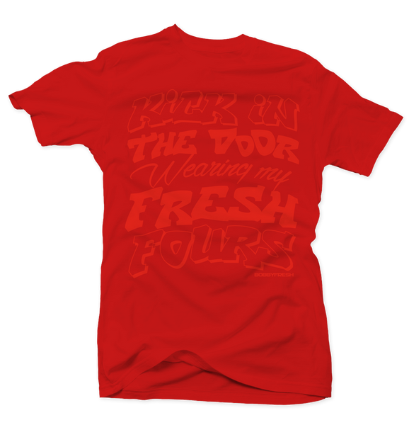 Kick in the Door Red/Red Tee