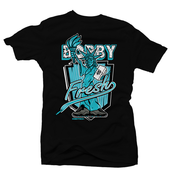 Lady Liberty Black Tee